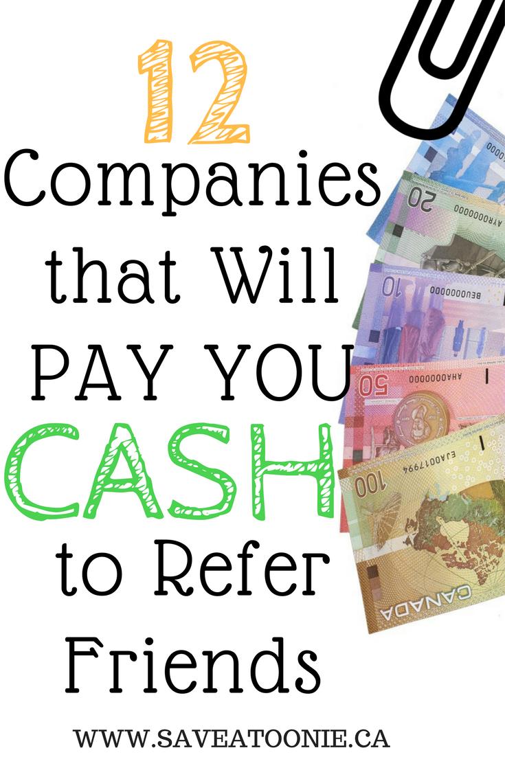 Make Cash For Referring Friends.