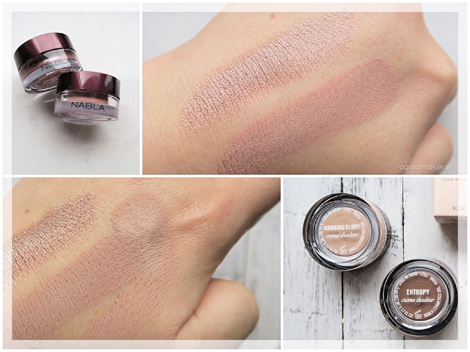 Nabla Creme Shadow Entropy, Morning Glory swatches