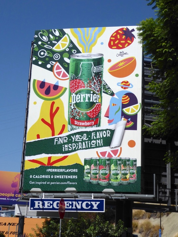 Perrier Strawberry billboard