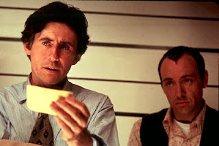 Gabriel Byrne as Keaton and Kevin Spacey as Verbal, in The Usual Suspects, Directed by Bryan Singer