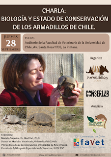 """Charla: """" Biología y estado de conservación de los armadillos de Chile"""""""