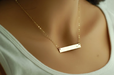 14kt Gold Bar Necklace