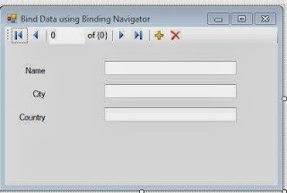 Controls and binding navigator on the windows form