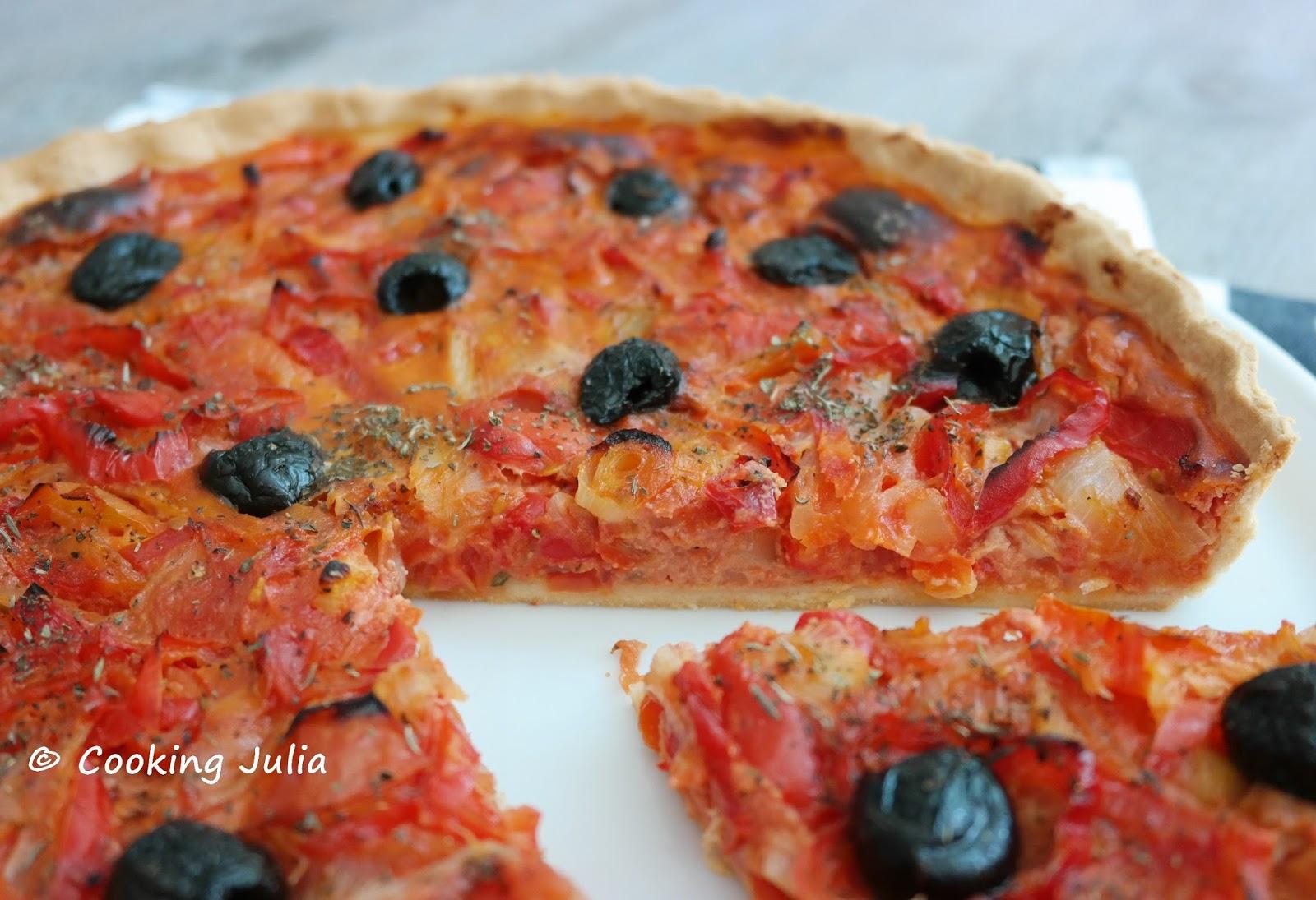Cooking julia tarte rouge poivron et tomate - Cuisiner les poivrons ...