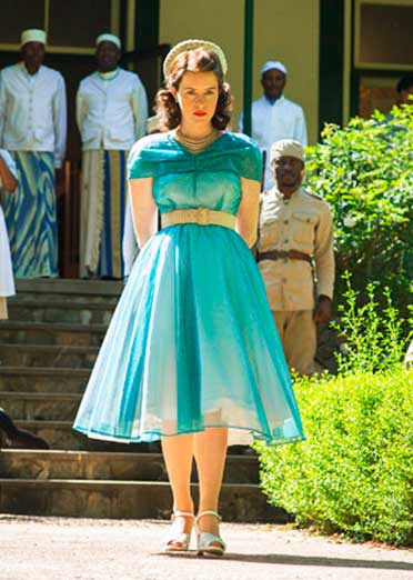 Elizabeth vestido anos 50 em The Crown