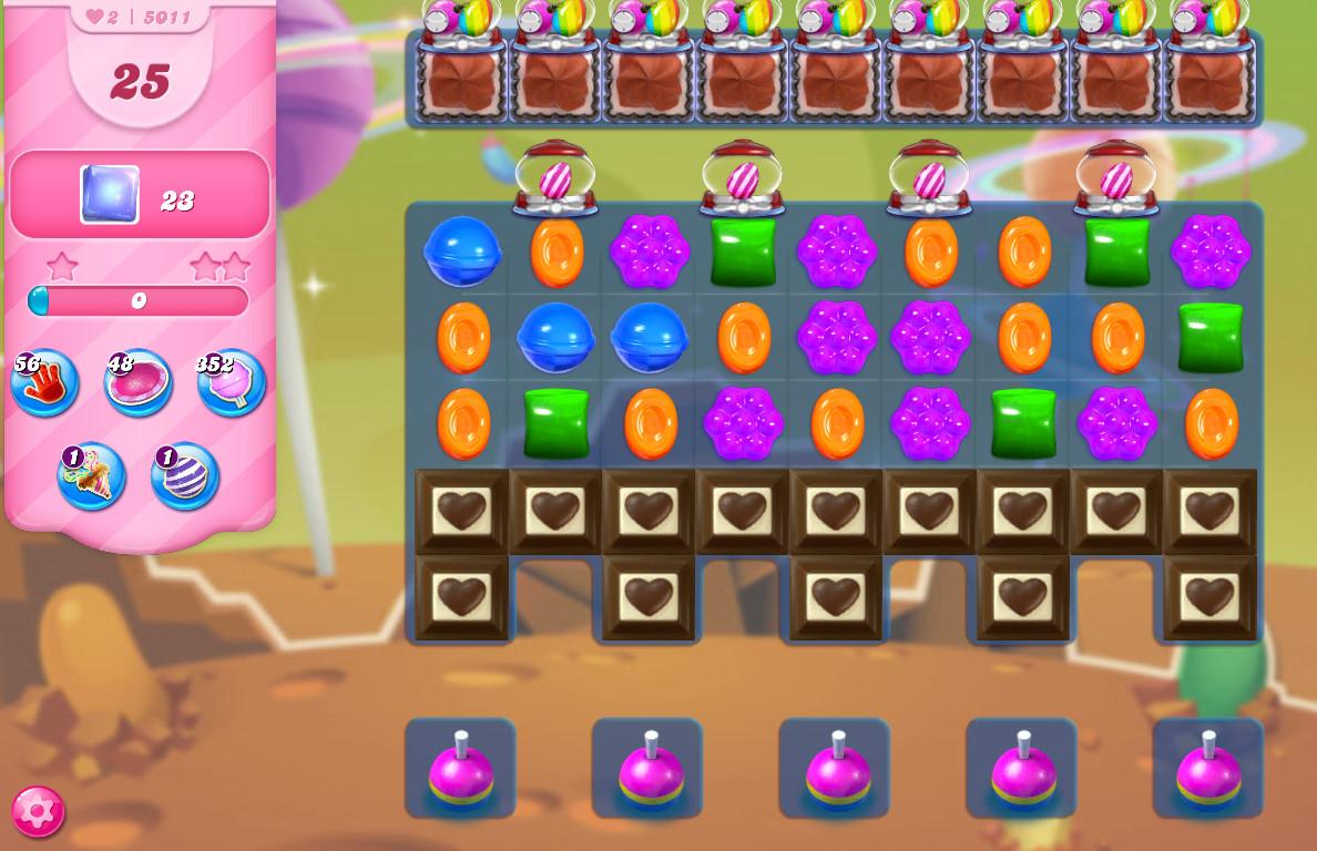 Candy Crush Saga level 5011
