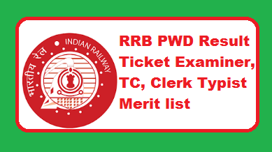 RRB PWD Result 2018-2019