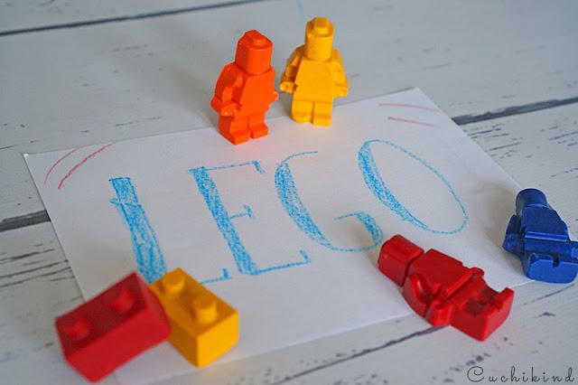 Legofigur Wachsmalstift