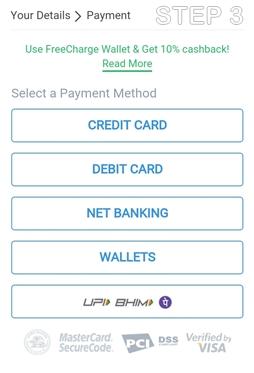 Select a Payment Method – अपना Online Payment Method चुनें
