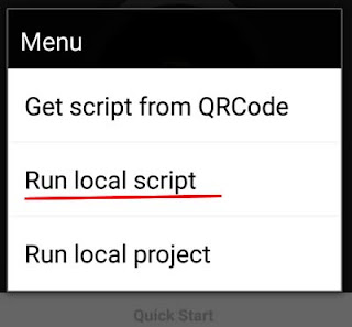 run local script
