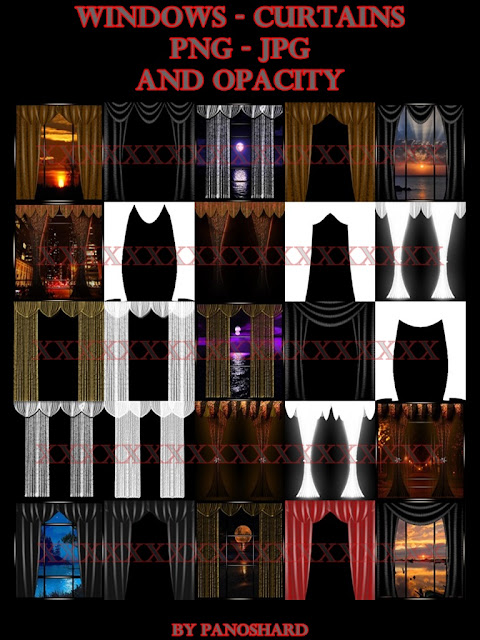 TEXTURES IMVU FOR SALE: Windows - curtains - png - jpg - and