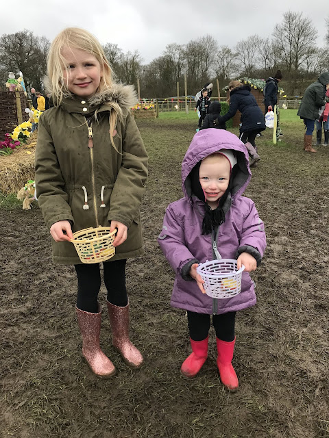 2018 Easter Egg Hunt at Willows Activity Farm eggs and mud