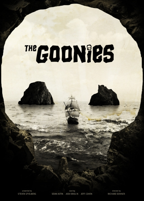 The Geeky Nerfherder: Movie Poster Art: The Goonies (1985)