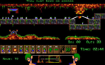 Lemmings / Lemmins / Blitz Lemmings - Jeu Puzzle / Plateforme sur PC