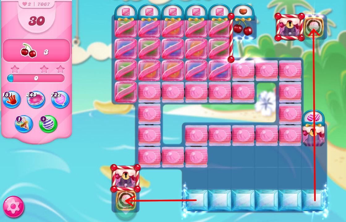 Candy Crush Saga level 7067