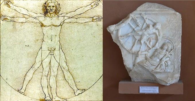 Ο άνθρωπος του Βιτρούβιου του Ντα Βίντσι και οι ομοιότητες με το Βασιλιά Ιξίωνα της Θεσσαλίας
