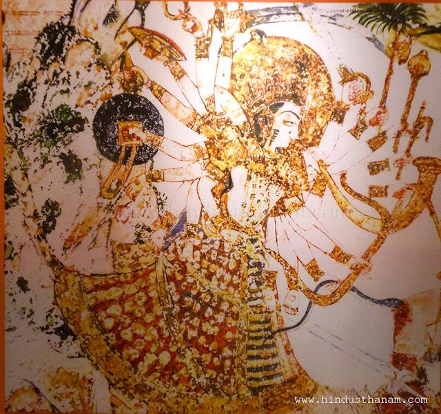 Mahishasur Mardini Painting in Mehrangarh Fort