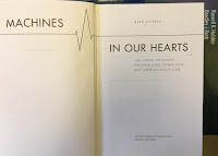 Machines in our Hearts: The Cardiac Pacemaker, the Implantable Defibrillator, and American Health Care, by Kirk Jeffrey, superimposed on Intermediate Physics for Medicine and Biology.