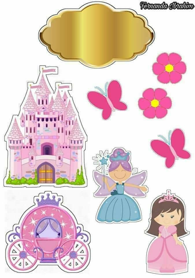 graphic about Printable Fairy Tale called Fairy Story Cost-free Printable Cake Toppers. - Oh My Fiesta! within