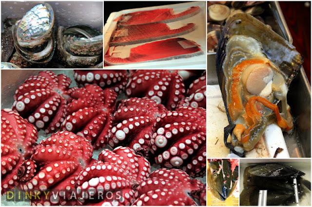 Pescado de la lonja de Tsukiji