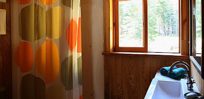 far meadow log cabin interior