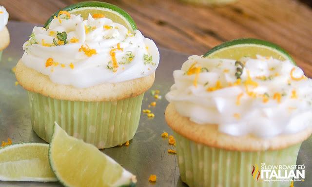 Boozy Margarita Cupcakes