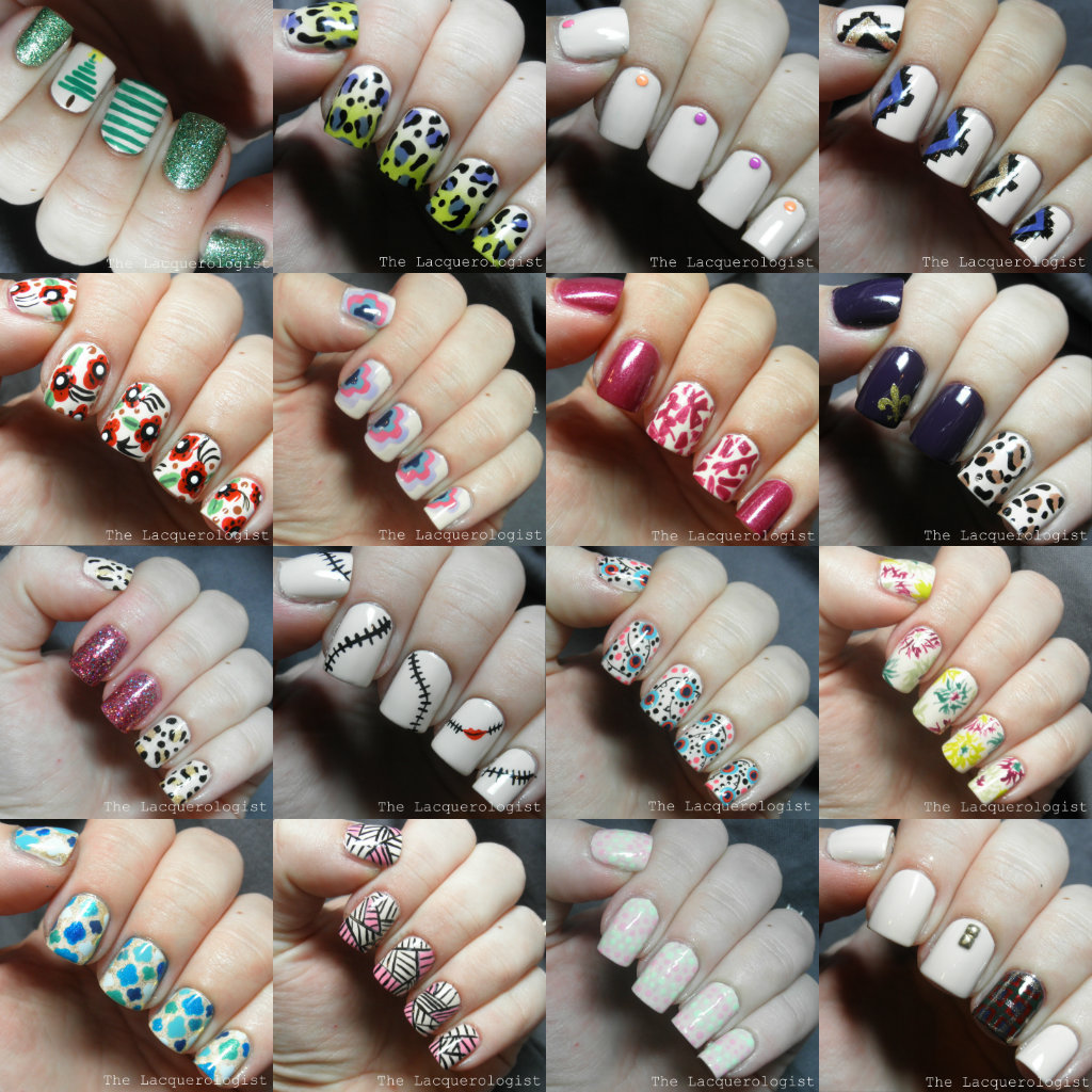 Nail Art Designs With Two Colours To Bend Light