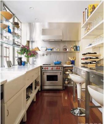 dapur kecil dengan cerobong logam