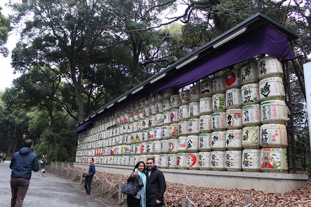 les tonneaux de saké du Meiji-gu - Japon