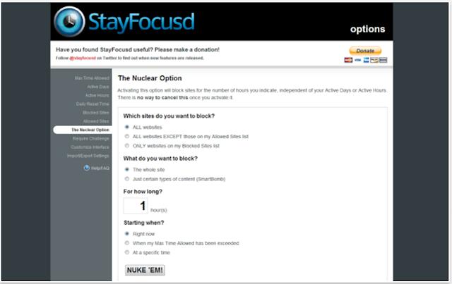 StayFocusd - 10 Add-ons Browser Terbaik