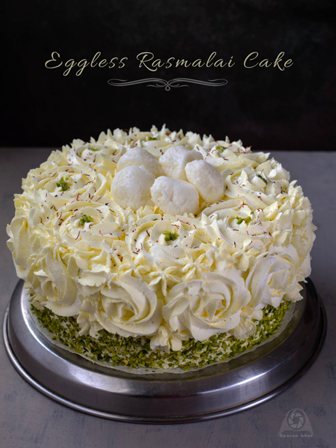 Amazing Eggless Rasmalai Cake Flavors N Colors Personalised Birthday Cards Paralily Jamesorg