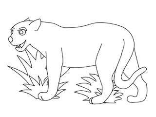 Jaguar Outline Free Printable Kids Coloring Pages