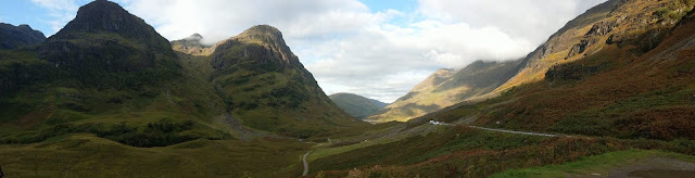 The rich green hills of Glencoe - two of the three sisters.