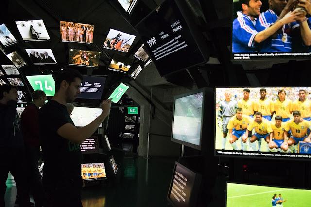 museu do futebol copas telas