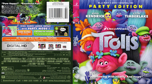 Trolls Bluray Cover