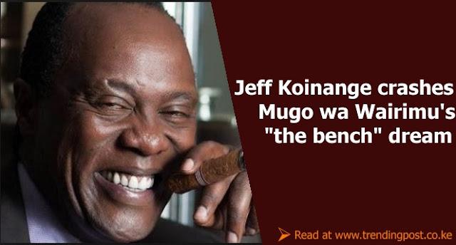 "Jeff Koinange Hilariously Crashes Mugo Wa Wairimu's ""The Bench Dream"""