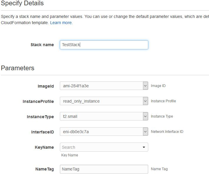 AWS CloudFormation Sample | Technical references