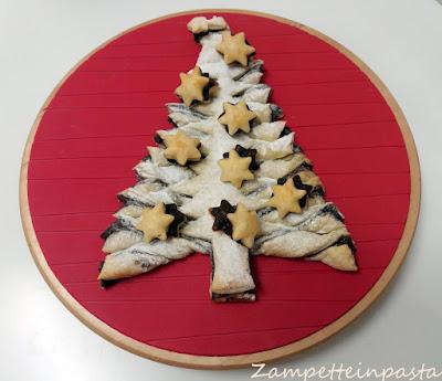 Albero di pasta sfoglia alla Nutella - Dolce di Natale facile e veloce
