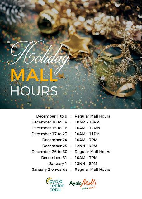 Mall Hours Ayala Center Cebu Christmas 2017