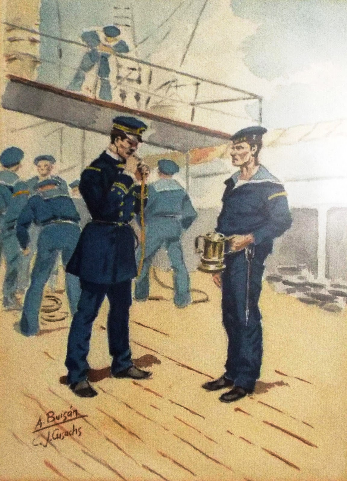 Wargaming Miscellany Spanish Naval Uniforms From The End