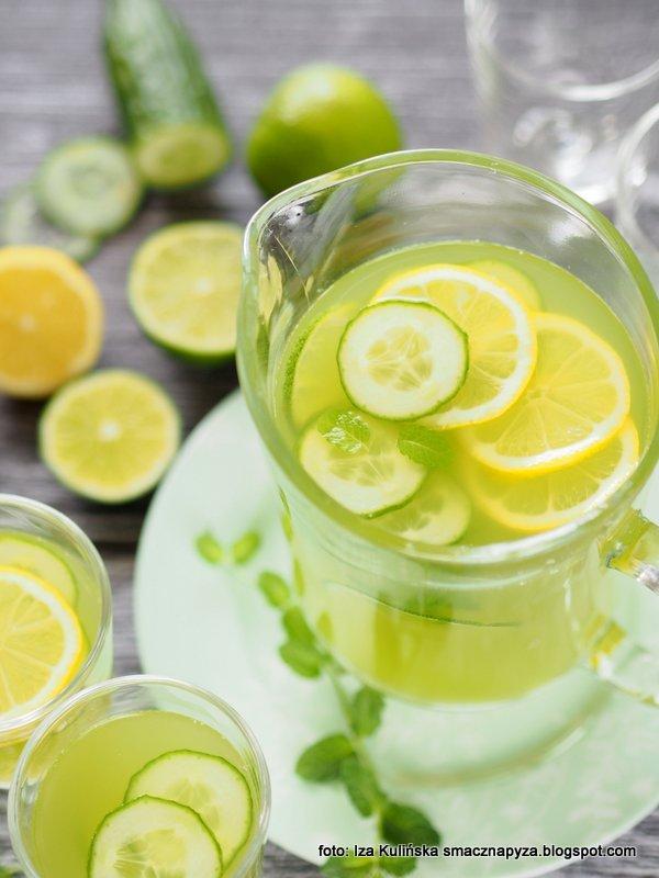 napoj ogorkowy, napoje na lato, lemoniady domowe, ogorki zielone, do picia, dla dzieci, na impreze, orzezwienie, napoj orzezwiajacy, napoj tonizujacy