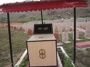 """War Cemetery"" at Kargil War Museum."