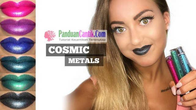 NYX Cosmic Metals Lip Cream - Video Daftar Merk Lipstik Warna Metalik Terbaik Yang Bagus Tahan Lama dan Murah Harganya