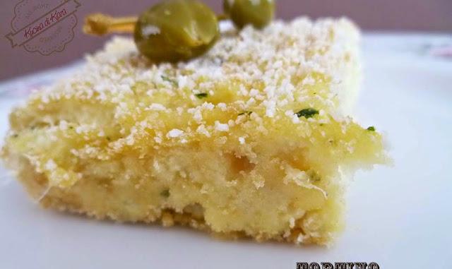 Torta di baccalà e patate con frutti di cappero