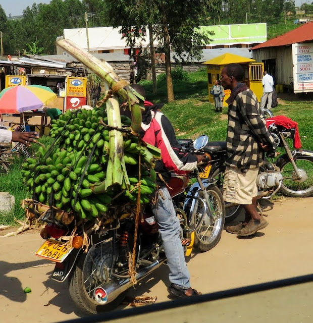 Matoke on a motorcycle in Uganda