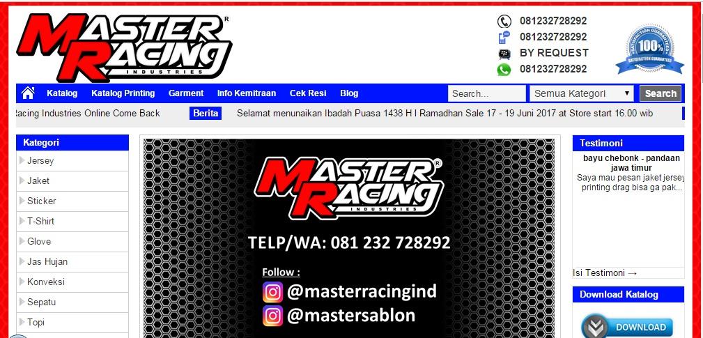 Masterracingind.com Toko Online Terpercaya dan Aman - VERIFIKASI ...