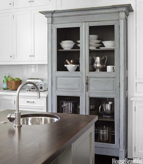 Antique Cabinets Kitchen: Library Of Inspirational Images: Chic In White