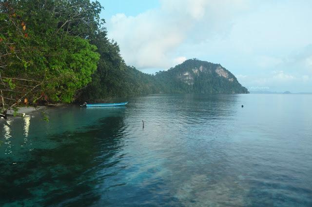 Pulau yang terlindung Talaip Homestay, Raja Ampat +jelajahkeluargasuwanto