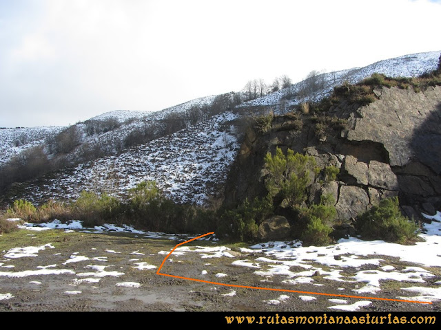 Pico Ranero: Desvío bajando por la pista