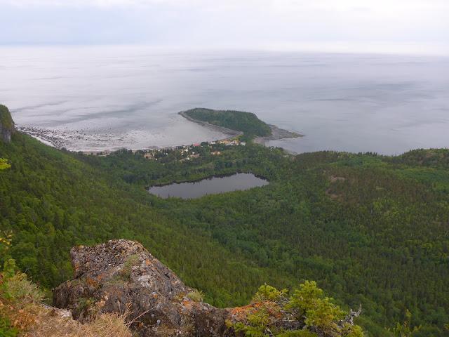 vue du sommet du Parc du Bic Québec